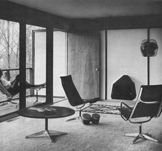 Aluminum Group chairs began as a challenge among legendary designers. Eero Saarinen and Alexander Girard were designing the Columbus, Indiana, home of industrialist J. Irwin Miller. They wanted a high-quality seating product for outdoor use and asked Charles and Ray Eames to develop one.