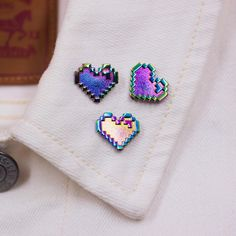 "1,903 Likes, 44 Comments - Joanna Behar (@joannabehar) on Instagram: ""Coming soon!  All rainbow metal pixel hearts!! These are going to be limited edition too  stay…"""