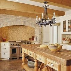 Kitchen with Old-World Arch
