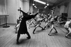 Guy Le Querrec  FRANCE. Paris. 9th arrrondissement .1976 National Opera School Dance.  Monday 11th October, 1976.
