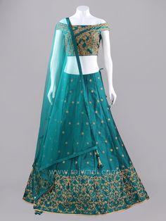 Peacock Blue Embroidered Choli Suit  #rajwadi #cholisuit #readycholi #lehengas #embroidered #FeelRoyal #bridal #colorful