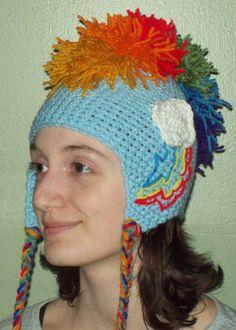 Rainbow Dash crochet Hat by YarnAlchemy.deviantart.com on @deviantART