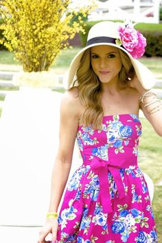 15 Fabulous Kentucky Derby Women's Hats and Fashion Outfit Inspirations Kentucky Derby Outfit, Derby Attire, Kentucky Derby Fashion, Derby Outfits, Summer Outfits, Cute Outfits, Preppy Mode, Preppy Style, Zuhair Murad