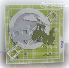 card kid train Baby card with Marianne design train die LR0308 - waggon - clouds - film strip  clouds smoke - for kids