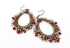 melody macduffee | Penny Dixon Designs: Weathering Wire Lace Earrings