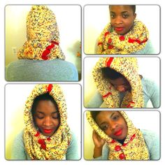 Hooded scarf/cowl