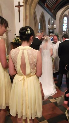 For Her and For Him » ALL REAL WEDDINGS  This dress  is probably too expensive but I think that yellow can be very nice.  It is a happy color