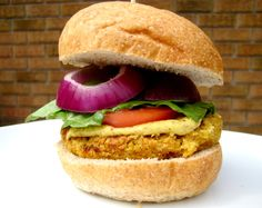 Hummus-Flavored Chickpea Burgers [gluten-free, soy-free, vegan]