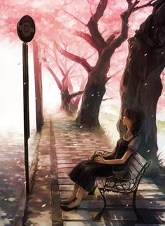 Sasori was sitting on a bench enjoying a creamsicle. She looked out onto the landscape blandly. It was her day off. You sat beside her and she looked at you. ((Open rp))