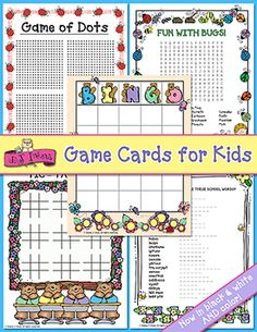 Use these whimsical DJ game cards to help entertain students or children! This great little download comes with 5 different game cards perfect for rainy days, or spare-time fun!