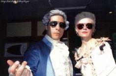 Kirsten Dunst and Jason Schwartzman. Behind the scenes of Marie Antoinette (2006).