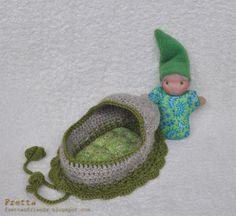 Waldorf Play Set Tiny Baby Doll in a by FrettasLovableDolls, $32.00