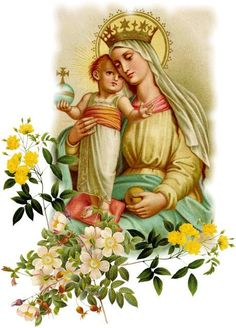 Blessed Virgin Mary and Baby Jesus