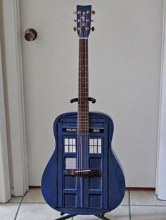 I would take up guitar just for this. Doctor Who - The guiTARDIS (by Arthur Yet Lew twilightnewsman. Doctor Who, Eleventh Doctor, Matt Smith, David Tennant, Rick E, Through Time And Space, Don't Blink, Torchwood, Cool Guitar