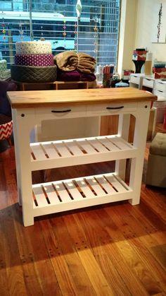 mesa auxiliar de arrime de cocina en madera miagala