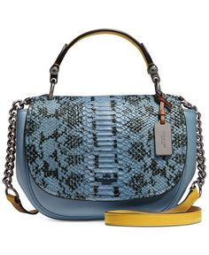 Coach Nomad Top Handle Crossbody In Colorblock Exotic Embossed Glovetanned Leather