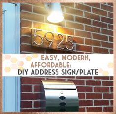 Midcentury Modern House Numbers Tutorial Using Home Depot Paint