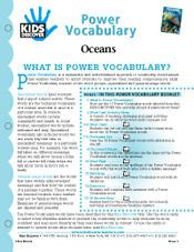 FREE 16-page Printable Vocabulary Packets for Kids Discover Oceans