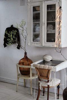 #desk #un-upholstered chair #vintage jacket