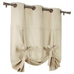 Natural Grommet Tie-Up Curtain Panel at Joss and Main. General idea of what I would like for the living room.