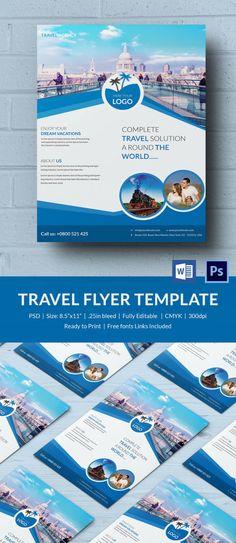 Travel Agency Flyer Designs http://graphicdesigneronline.info ...