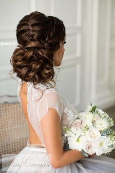 Wedding Hairstyle : Featured Hairstyle:Elstile;www.elstile.ru; Wedding hairstyle idea.
