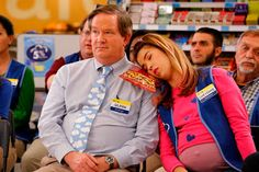 "#Superstore - Store Manager Glenn (Mark McKinney) and Cloud 9 Employee Cheyenne (Nichole Bloom) take meetings seriously.  Click to read the Rabbit Ear Review of ""Labor."""