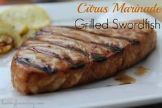 Citrus Marinade Grilled Swordfish Recipe I had some amazing Swordfish from Anderson Seafood that was calling my name this past weekend, and since my grill