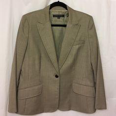"NWOT ANNE  KLEIN  Professional jacket size 12 NWOT. Light Taupe color, beautiful jacket size 12. Length 24,5"" Anne Klein Jackets & Coats"