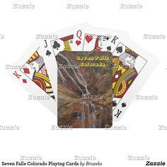 Seven Falls Colorado Playing Cards