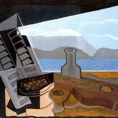 Juan Gris (1921): La ventana abierta. Museo Nacional Centro de Arte Reina Sofia. Madrid. España.