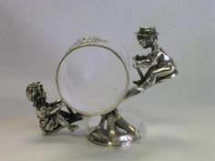 Figural Silver Napkin Ring - see-saw