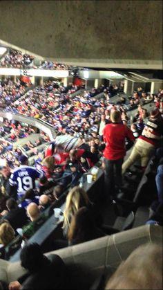 Leafs vs Sens Fan fight Nov 9th 2014 Complete idiots...