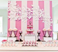Girly & pink candy buffet