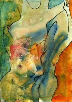 """Saatchi Art Artist Julie Shackson; Painting, """"The Three Muses"""" #art"""