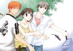 Natsuki Takaya, Fruits Basket, Tohru Honda, Kyo Sohma, Yuki Sohma- and Kyo's smiling!