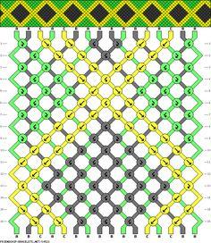 macrame friendship bracelets bandera jamaica flag patron pattern