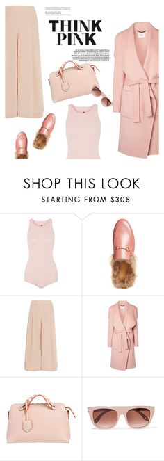 """""""My world in pink"""" by naki14 ❤ liked on Polyvore featuring Rick Owens, Gucci, TIBI, L.K.Bennett, Fendi, INDIE HAIR, Givenchy, Pink, trending and rose"""