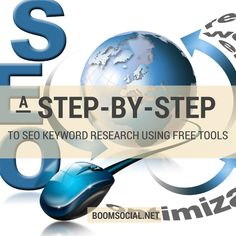 SEO Keyword Research - Free Tools - Step by Step Guide (by Kim Garst of Boom Social) Search Engine Marketing, Seo Marketing, Business Marketing, Online Marketing, Social Media Marketing, Affiliate Marketing, Online Business, Digital Marketing, Business Coaching