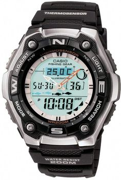 Casio Men s Sports Gear Analog  amp  Digital Chronograph Fishing Watch -  AQW101-1A   778acc6a25