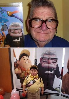 Real-life Pixar characters, tee hee