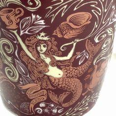 Starbucks 2008 Anniversary Blend Coffee Mug Brown Mermaid Siren 12 oz old logo #StarbucksCoffee