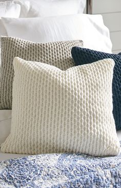 Our Chunky Knit Pillow is a fun, eclectic textured element that adds interest to any décor.
