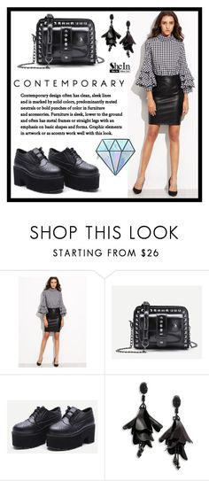"""SheIn 3."" by fashion-rebel-chic ❤ liked on Polyvore featuring Oscar de la Renta and Unicorn Lashes"