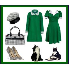 """""""A green coat"""" by tarlily on Polyvore"""