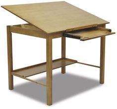 Studio Designs Americana II Light Oak Wide Drafting and Hobby Craft Table (Americana II Drafting Table x Light Oak), Brown Low Shelves, Storage Shelves, Storage Spaces, Wood Drafting Table, Drafting Desk, Light Table, A Table, Light Oak, Office Furniture