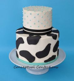 Cow baby shower theme cake | themed Baby Shower - by ConceptualConfection @ CakesDecor.com - cake ...