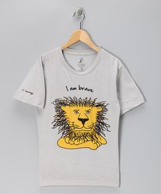 (bought this for ravi) Take a look at this Gray 'Courage' Lion Tee - Kids by Cloud9World on @zulily today!