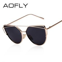 AOFLY için Polarize Güneş Gözlüğü Kadın Moda Yaz Stil Güneş gözlükleri Kadınlar Vintage Klasik Marka Tasarımcısı Ikiz-Kirişler Shades(China)