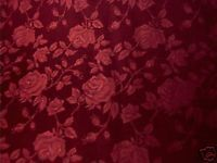 Burgundy Rose Floral Brocade Fabric $5 25 Yd | eBay